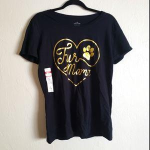 3/$20 Fur mama pet mom black short sleeve tshirt